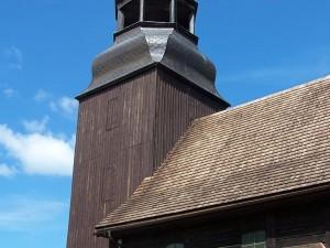 Miedziana kopuła kościoła w Złotowie
